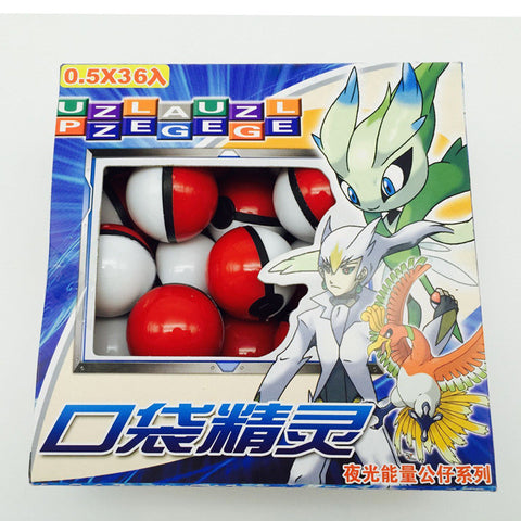 36pcs/lot Pokemon Monsters Pokeball Small Mega Model Wholesale Toys Best Toys For Kids Collection - Animetee