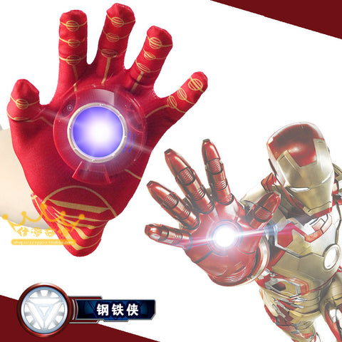 2016 New Cosplay Avengers Toy Cartoon Interesting Iron Man Glove Emitter Flash Sound Action Figure Toys For Children Gifts - Animetee - 1