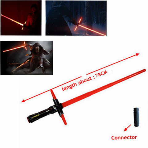 1Pcs HOT Sale Star Wars Lightsaber 7 The Force Awakens Kylo Ren Sword Toys LED Cosplay Darth Vader Laser Sword Weapons 101CM hwd - Animetee - 1