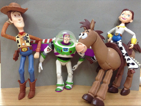 4pcs/set Anime Toy Story 3 Buzz Lightyear Woody Jessie Bullseye PVC Action Figure Collectible Model Toy Kids Gifts hwd - Animetee - 1