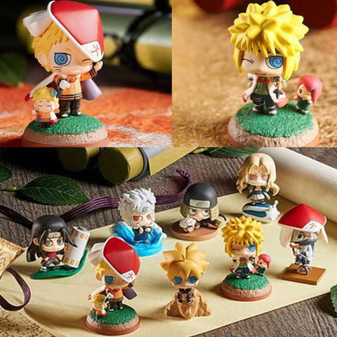 Naruto Sasauke ninja 2018 Hot 8pcs/set  Nidaime Yondaime Godaime Anime Puppets Action Figure PVC Funny Toys Table Desk Decoration Model Gift #E AT_81_8