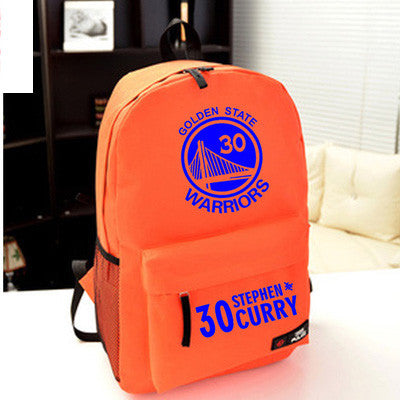 Golden State Warriors MVP Stephen Curry  Thompson student girl boy basketball star cartoon printing  School Bag  Name celebs - Animetee - 3
