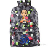 Golden State Warriors MVP Stephen Curry  Thompson student girl boy basketball star cartoon printing  School Bag  Name celebs - Animetee - 17
