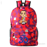 Golden State Warriors MVP Stephen Curry  Thompson student girl boy basketball star cartoon printing  School Bag  Name celebs - Animetee - 7