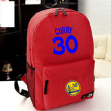 Golden State Warriors MVP Stephen Curry  Thompson student girl boy basketball star cartoon printing  School Bag  Name celebs - Animetee - 12