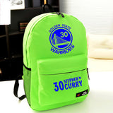 Golden State Warriors MVP Stephen Curry  Thompson student girl boy basketball star cartoon printing  School Bag  Name celebs - Animetee - 2