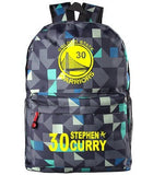 Golden State Warriors MVP Stephen Curry  Thompson student girl boy basketball star cartoon printing  School Bag  Name celebs - Animetee - 6