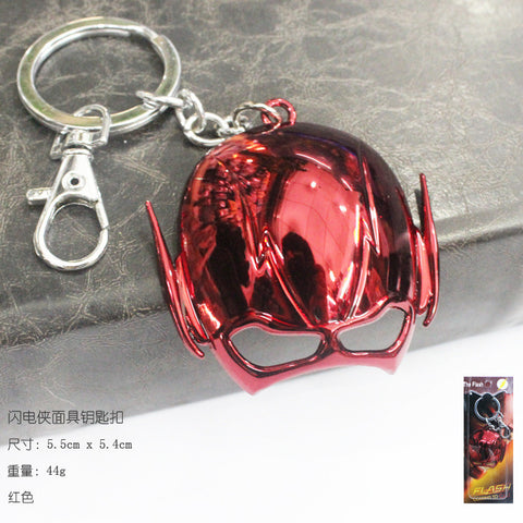 1pcs Marvel The Flash Mask Keychain Metal Key Chain Pendant Keyring Key Ring For Man's Boys Women 80's hwd - Animetee