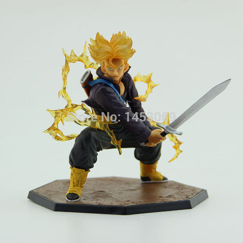 "Dragon Ball Z Super Saiyan Trunks Battle Version Boxed PVC Action Figure Model Collection Toy 6"" 14cm hwd 80's - Animetee - 1"