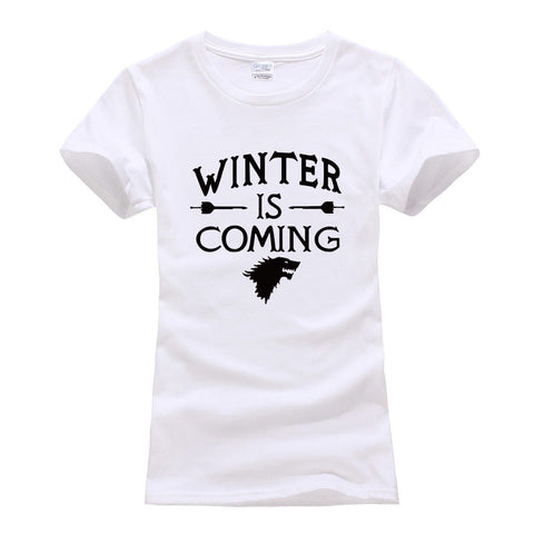 Winter Game of Thrones GOT brand harajuku tee shirt femme 2018 summer tops  winter coming tshirt for lady fashion bodybuilding Women T-Shirt AT_77_7