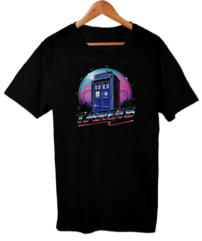 Dr. Who Doctor Who Retro 80's Style Dr  Tardis Men's &  Unisex Comfy Loose Fit T-Shirt Short Sleeves New Fashion T Shirt Men ClothingDon't blink AT_79_7