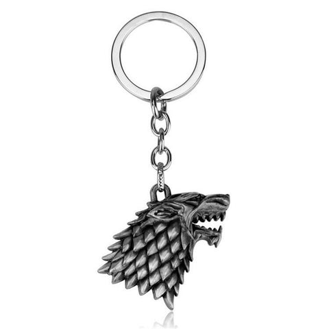 Winter Game of Thrones GOT new  Metal Stark Wolf Keychains For Men Anime Keyrings Key Fob Chaveiros Porte Clef Originality Souvenir Gift AT_77_7