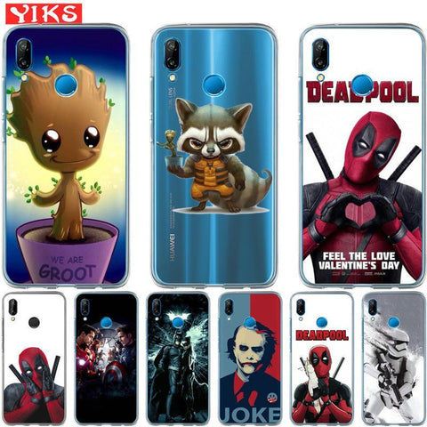 Deadpool Dead pool Taco For Huawei mate 9 10 P8 P9 P10 P20 Lite plus pro 2017 Joker  Cover Steele Case Cases For Huawei P10 Lite Coque Etui AT_70_6