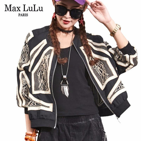 Trendy Max LuLu Autumn Vintage Korean Style Girls Punk Streetwear Womens Short Casual Jacket Embroidery Jaqueta Feminina Woman Bts Coat AT_94_13