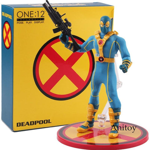 Deadpool Dead pool Taco Mezco 1:12 X-MEN  Blue Ver. ONE:12 Collective X-man PVC XMEN Figure Hot Toys  Collectible Model Toy AT_70_6