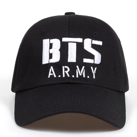 Trendy Winter Jacket Kpop BTS ARMY Logo embroidery Baseball Cap Cotton Korea Hiphop Bangtan Boys Unisex Snapback Hat Men Women Adjustable K-Pop Caps AT_92_12