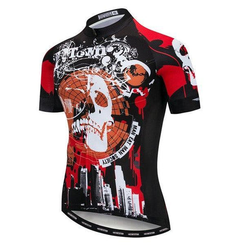 d61b815cfdf ... Top Summer wear Road clothes AT 57 4. Halloween Skull Skulls Skeleton  prop 2018 cycling jersey Men s Bike jerseys Mountain MTB Shirts Short sleeve