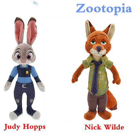 23cm zootopia the Rabbit Fox nick peluche plush toys 2016 New the Rabbit Judy Fox nick animal stuff plush Doll toys for kid hwd - Animetee