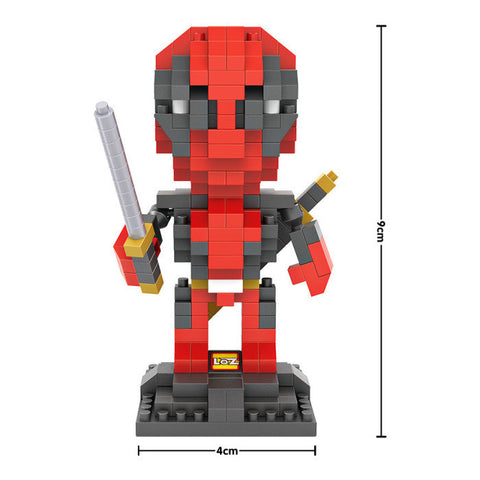 2016 New Marvel X-men Deadpool minifigure building blocks 3D Diamond Micro Nano scale DIY educational model with sword weapons hwd - Animetee