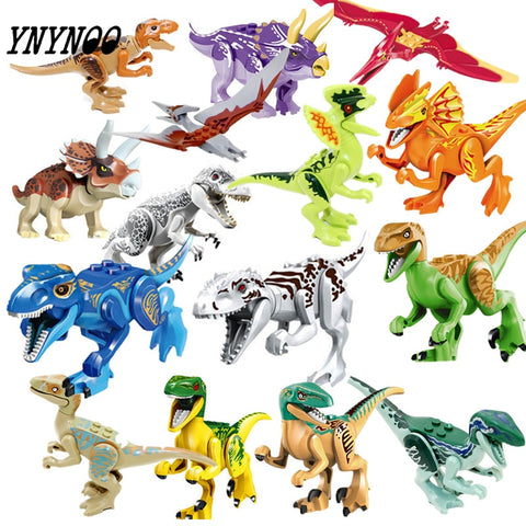 (YNYNOO)16Pcs Building Blocks Avengers World Park Dino World  Dinosaur Toys Model Kids Bricks Christmas Gift Toys