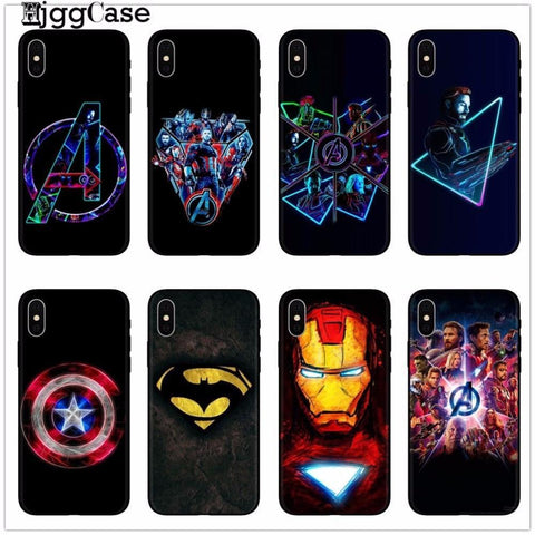 Deadpool Dead pool Taco  iron Man  Marvel Avengers KingKong Phone Case Cover For iphone X 8 7 6 6S Plus 5 5S SE TPU Soft Silicone Black Cases AT_70_6