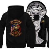 Trendy Personality United States Marine Corps Coat Casual Fashion Hooded Zipper Hoodies Autumn Winter Mens Jackets AT_94_13