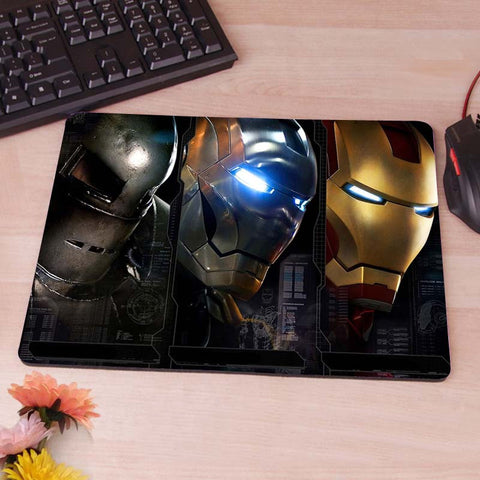 Ironman Iron Man Tony Starks War  Computer Mouse Pad Mousepad Decorate Your Desk Non-Skid Rubber Pad hwd celebs - Animetee - 7