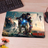 Ironman Iron Man Tony Starks War  Computer Mouse Pad Mousepad Decorate Your Desk Non-Skid Rubber Pad hwd celebs - Animetee - 3