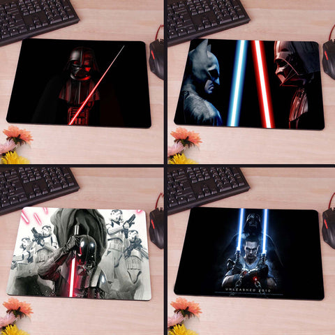 Darth Vader With His Sword, Star Wars Mousepad Rubber Pad 80's hwd - Animetee - 1
