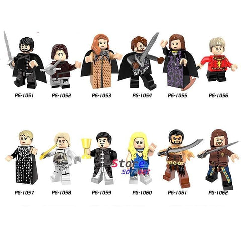 Winter Game of Thrones GOT  Jon Snow Daenerys Lannister Petyr Baelish Cersei Ice and Fire Series building Blocks brick toys for children AT_77_7