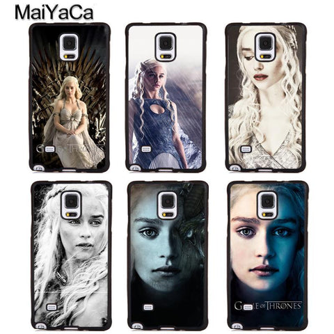Winter Game of Thrones GOT MaiYaCa Daenerys Targaryen s   Phone Cases For Samsung Galaxy S5 S6 S7 edge Plus S8 S9 plus Note 4 5 8 Cover Shell AT_77_7