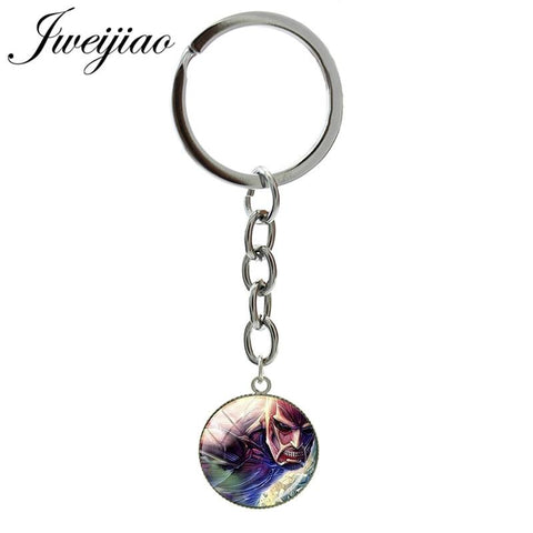 Cool Attack on Titan JWEIJIAO Custom  Images Keychain 20mm Round Pendant Keyrings Bag Charm Key Chain Ring Gift  BTS31 AT_90_11