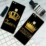 Cool For Huawei P8 P9 P10 Lite 2017 For iPhone 4 4S 5 5S SE 5C 6 6S 7 Plus King Queen caseAT_93_12