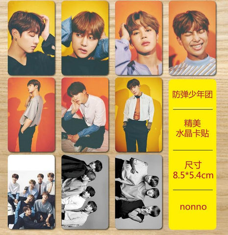 KPOP BTS Bangtan Boys Army  home   Boys nonno The Same Exquisite crystal card stickers 10 pieces AT_89_10