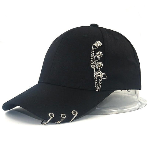Trendy Winter Jacket Hot Selling Bigbang Fashion KPOP Iron Ring Ball Hats Adjustable Baseball Cap BTS hats fashion snapback hats women sun hat men AT_92_12
