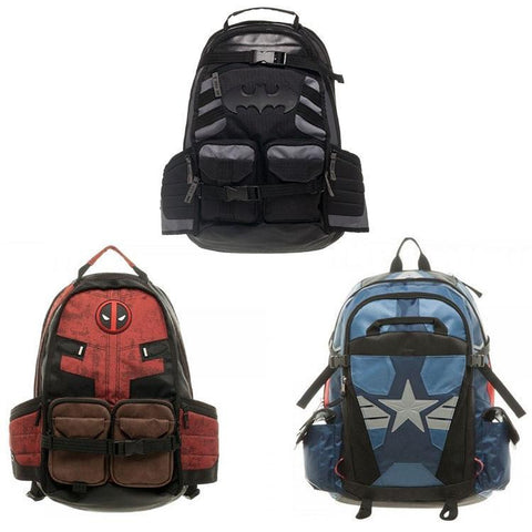 Deadpool Dead pool Taco Marvel backpacks  Batman and Captain America Backpacks  Super Hero Movie Civil War School Bags AT_70_6