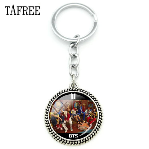 Cool Attack on Titan TA Korea Kpop BTS Band Keychain Fashion Key Chain Anime  Key Ring  Giant Keyring Car Key Jewelry BTS20 AT_90_11