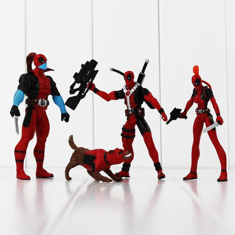 Deadpool Dead pool Taco The X-men   PVC Action Figure Collection Model Toy 4pcs/lot AT_70_6
