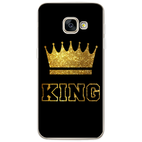 Trendy King Queen Case For Samsung Galaxy S5 S6 S7 Edge S8 Plus A3 A5 J1 J2 J3 J5 J7 2015 2016 2017 Note 8 Back cover AT_94_13