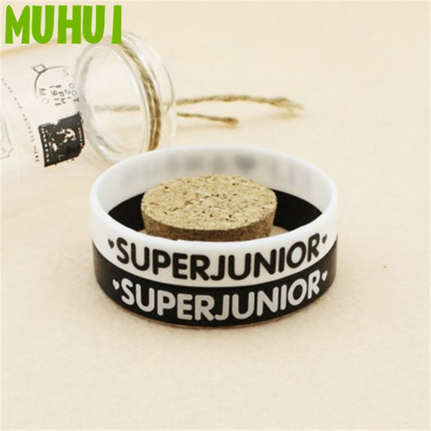 Kpop Super Junior Ever.Lasting.Friend Silicon Bracelets For Women Men Jewelry Friendship Wristband Pulseras B072