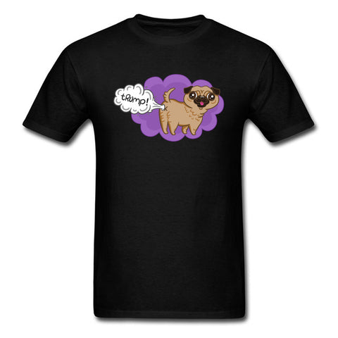 Cute Graphic Tee Shirts For Student Kawaii Pugs Dog Against Trump Funny Men T-Shirts Oversize Men's Fashion Cartoon Tshirt Print