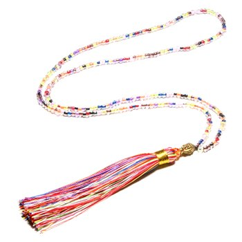 MOON GIRL Multicolor Seed Bead Tassel Pendant Necklace Bohemian Buddhist  Long Necklace for Women Fashion Amulet Jewelry Dropship