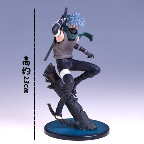 Naruto Sasauke ninja ZXZ 23cm Anime  Akatsuki Sasuke Dark side kakashi PVC Q Version Action Figures Figurine Collection for children Model Toy AT_81_8