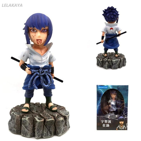 Naruto Sasauke ninja 16cm  Shippuden Anime Uchiha Sasuke Sharingan Battle Damaged Ver Model PVC Collectible Action Figure Brinquedos New Doll AT_81_8