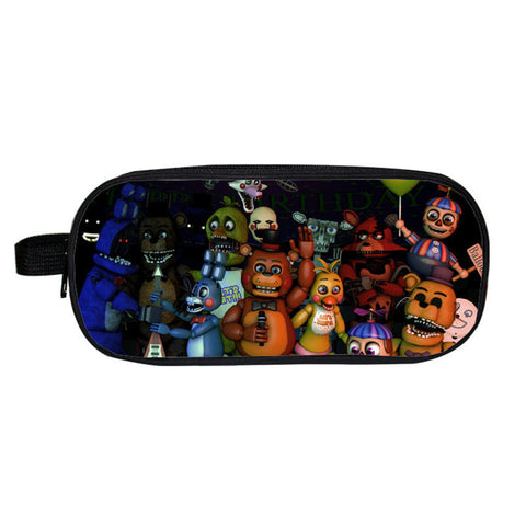 Five Nights Night's At Freddy Freddies Freddy's cover Pencil case School work office accessories holder wallet purse bag  2 3 4 game movie - Animetee - 1