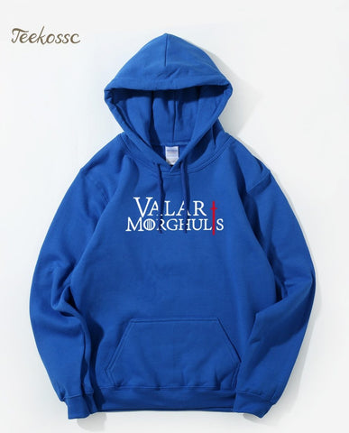 Winter Game of Thrones GOT  Hooded Sweatshirt Men Valar Morghulis Hoodies Mens 2018 Fleece Warm Loose Fit Streetwear Royal Blue Hoodie Male AT_77_7