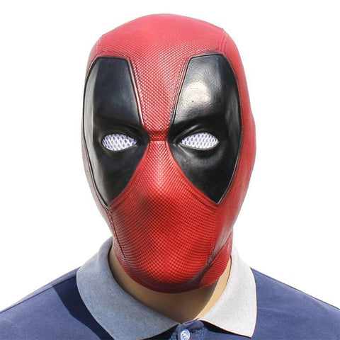 Deadpool Dead pool Taco Handmade Movie  Cosplay Mask Red Latex Full Head Face Helmet  Cosplay Costume Props Halloween Mask Adult AT_70_6