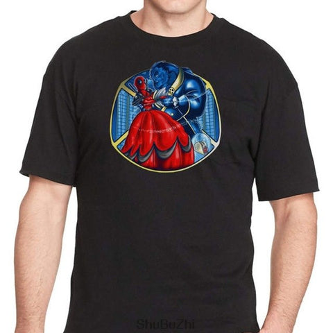 Beauty & The Beast T-Shirts - Deadpool and Xmen Mashup T-Shirt summer cotton tshirt new brand top tees