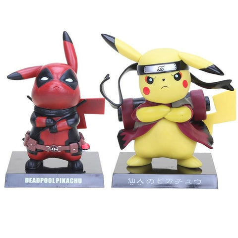 Deadpool Dead pool Taco 13.5cm Pokemon Figures  Pikachu Captain America Pikachu PVC Action Figure Collectible Model Toy AT_70_6