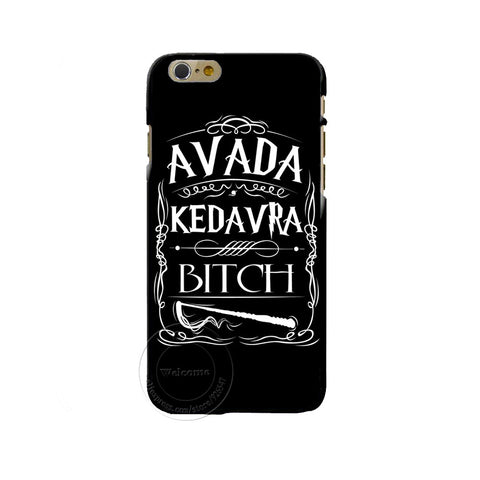 Avada Kedavra Bxch Harry Potter Design phone cover cases For Apple iphone 4 4S 5 5S 5C 6 6s 7 Plus 6SPlus Hard Shell hwd - Animetee - 1